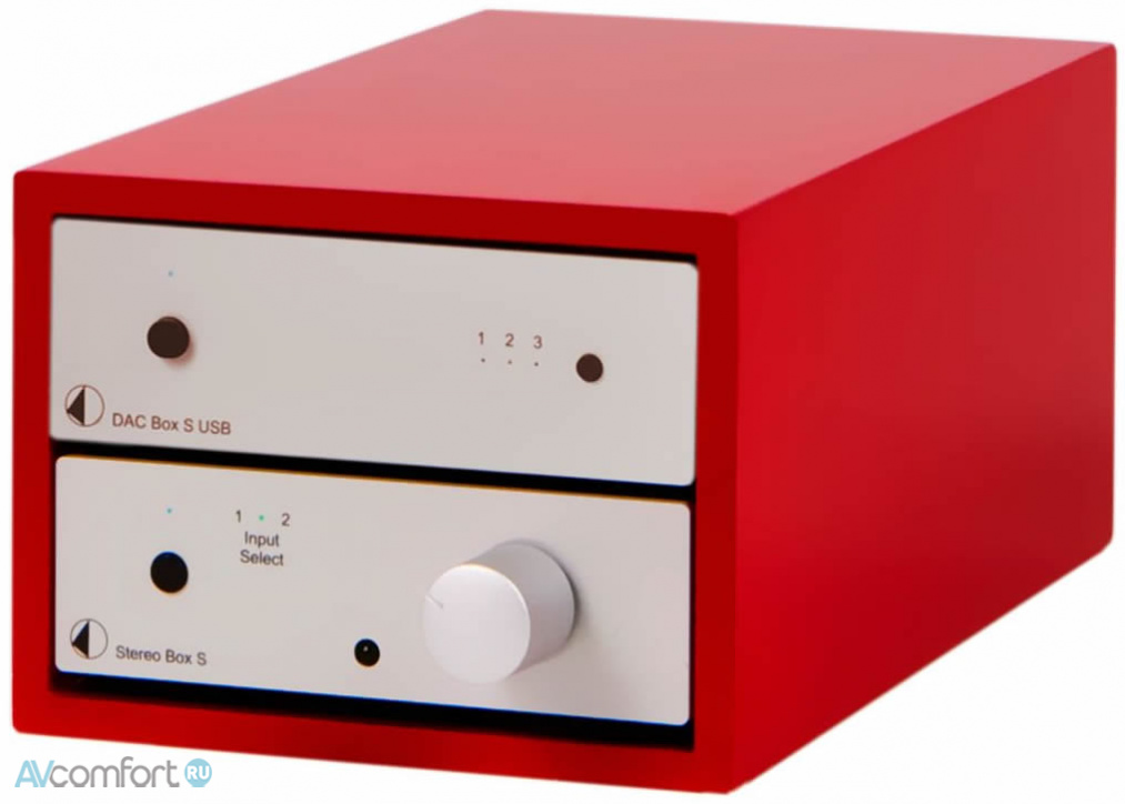 AVComfort, PRO-JECT Design Box Acryl 2 Red